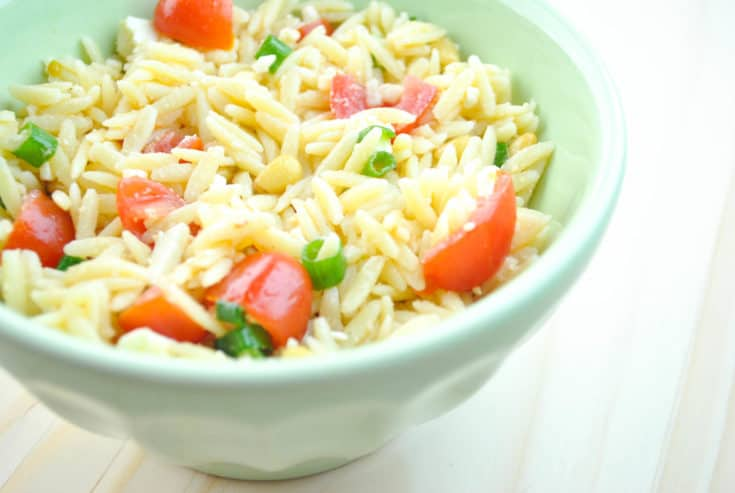 Tomato, Green Onion, and Orzo Salad