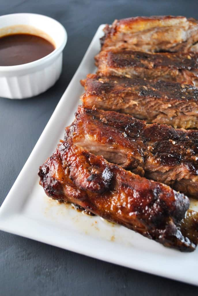 Maple Brown Sugar BBQ Ribs - The Culinary Compass