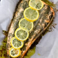 Lemon Dill Garlic Butter Salmon