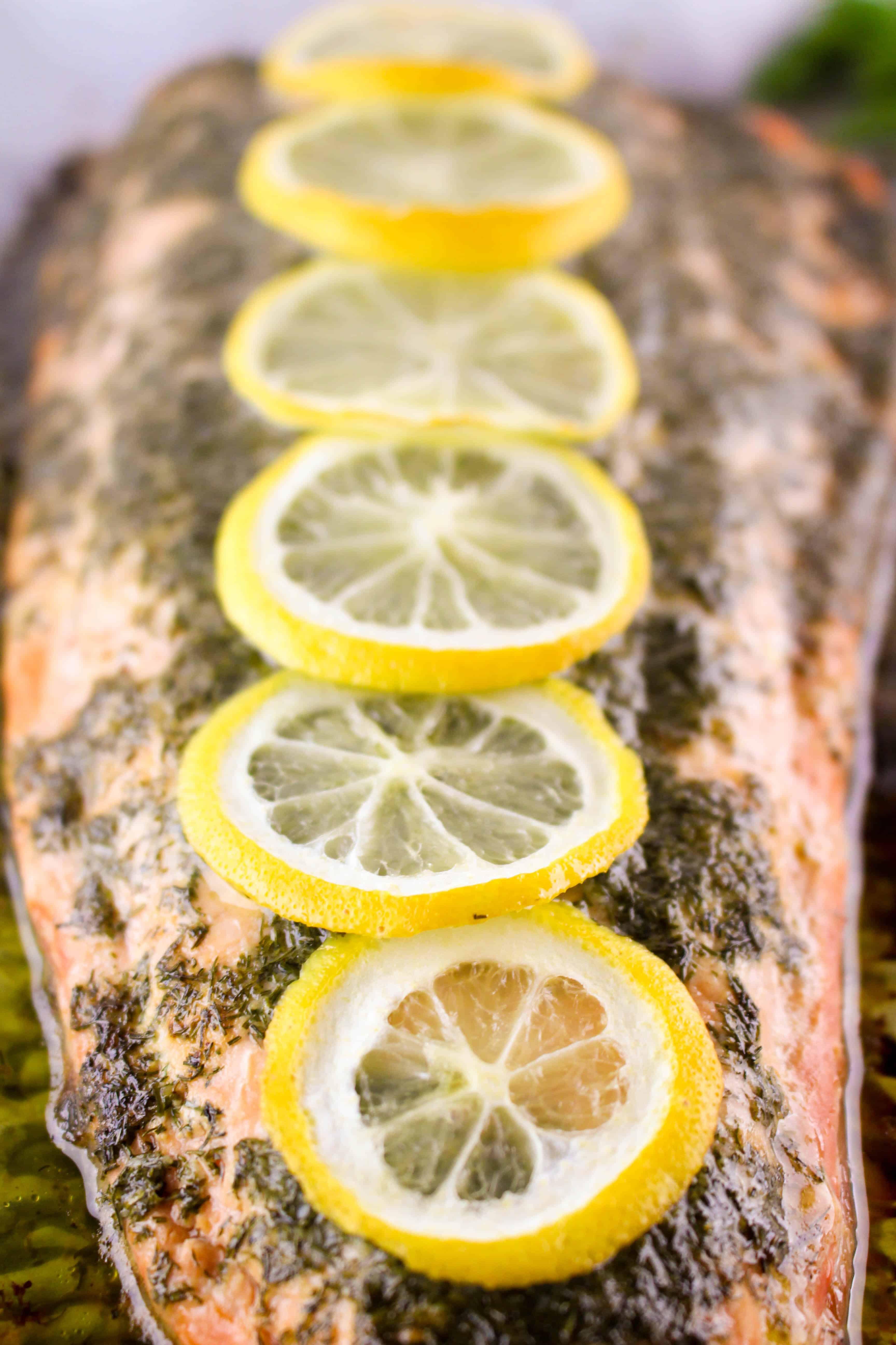 Lemon Dill Garlic Butter Salmon
