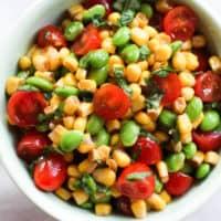 Corn Edamame Salad with Balsamic Vinaigrette