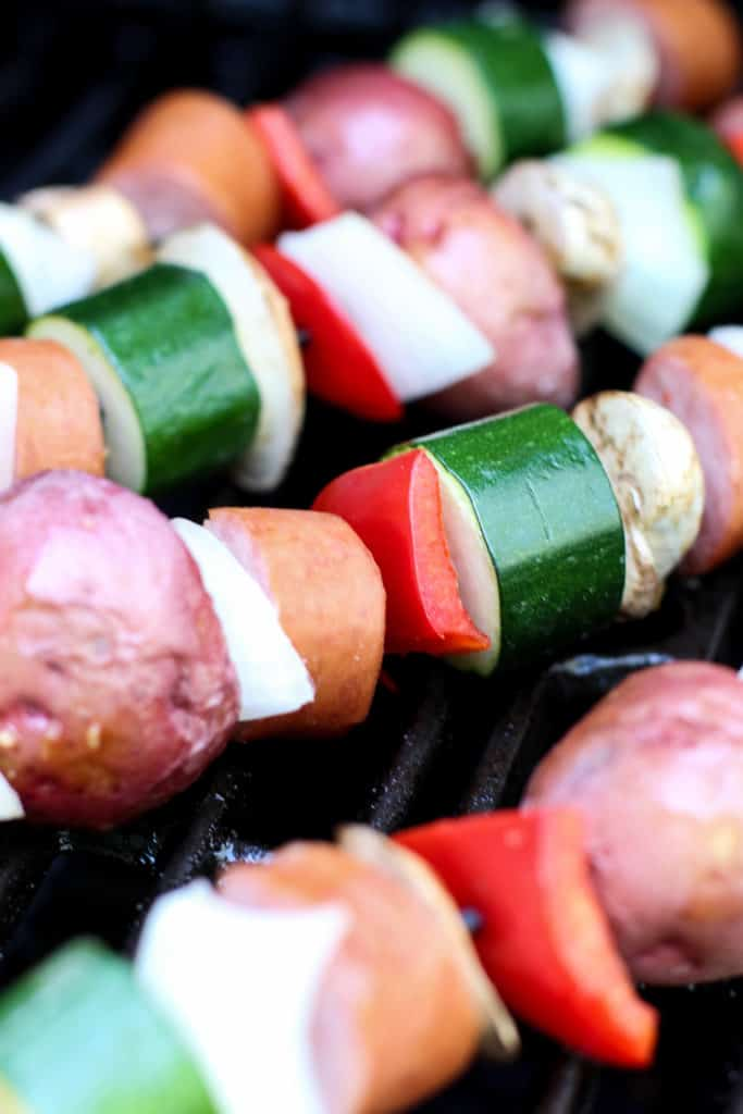 Grilled Kielbasa and Veggie Kabob 2