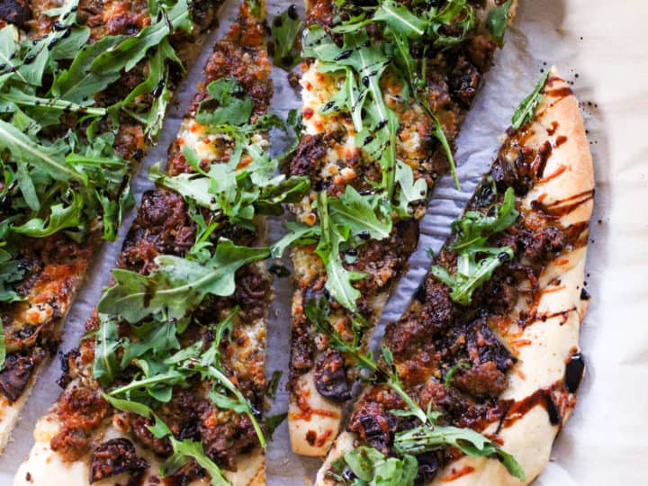 Rustic Pizza With Goat Cheese And Balsamic Reduction The Culinary Compass