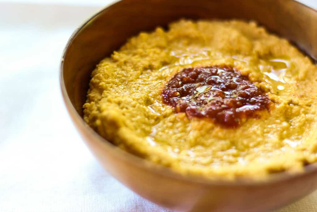 This Sambal Hummus is a simple, but spicy take on the classic!