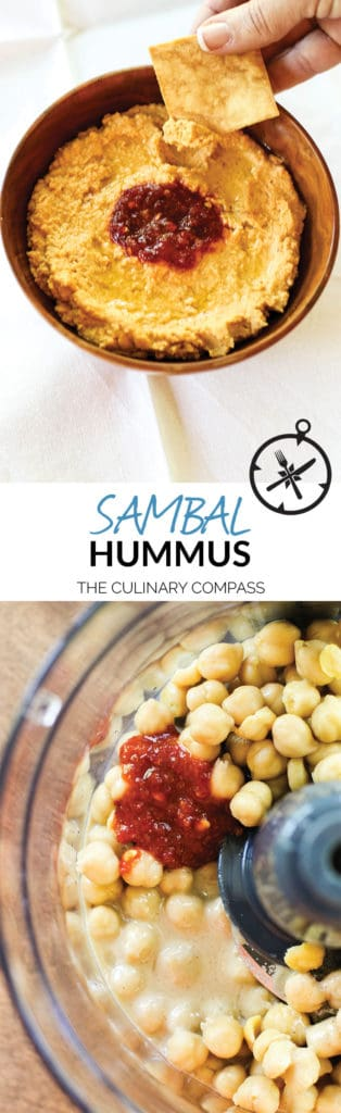This Sambal Hummus is a simple, but spicy version of the classic!