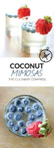 These Coconut Mimosas are a summery version of your favorite cocktail!