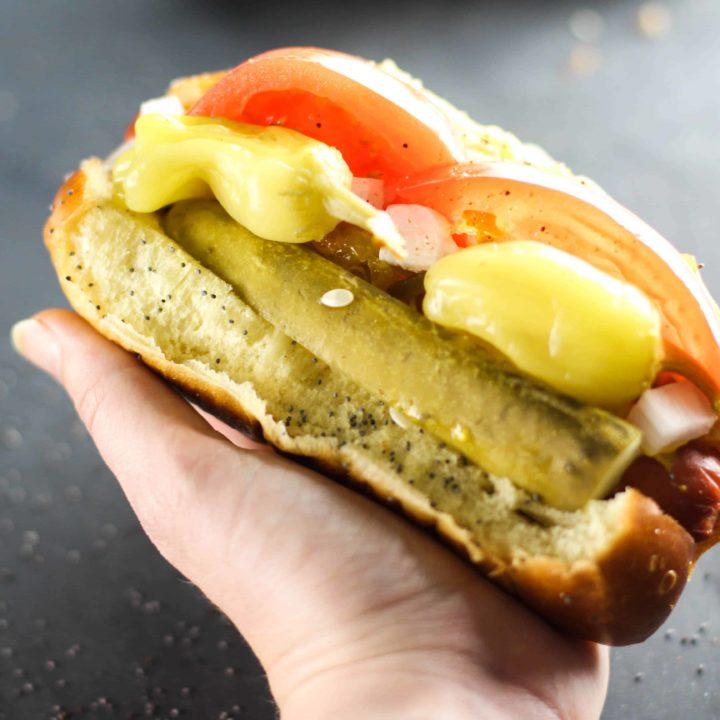 Chicago Style Hot Dog #SundaySupper
