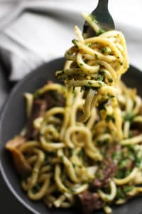 Try this Steak and Udon Noodle Salad with Chimichurri Sauce for a light and refreshing dish!