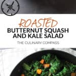 This Roasted Butternut Squash and Kale Salad is so easy to throw together and a perfect salad for cold winter nights!