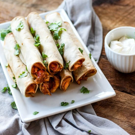 These Chicken Taquitos are full of flavor and make for a great snack or appetizer!