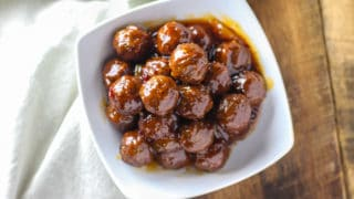 Chipotle Peach Meatballs