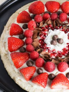 This Fruit Pizza is so easy to throw together and perfect to dress up for any occasion!