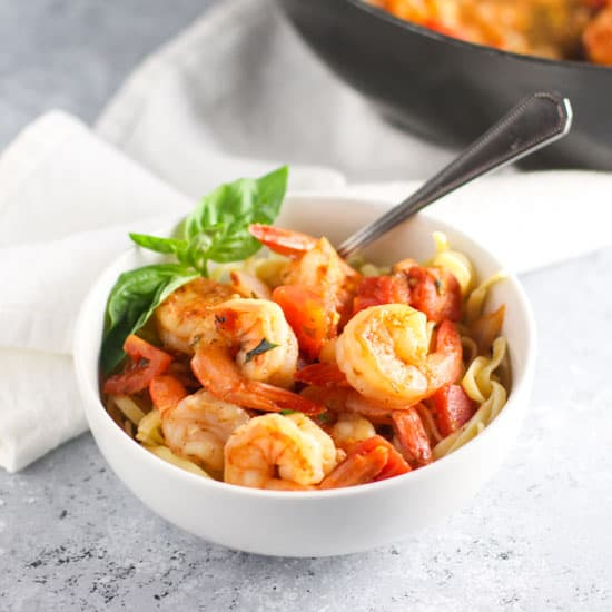 This Shrimp Fra Diavolo is light, easy and has the perfect amount of spice!