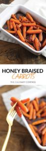 These Honey Braised Carrots are the perfect side dish for Easter! Full of flavor and so easy to make. They'll be sure to be a crowdpleaser!