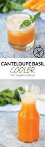 This Canteloupe Basil Cooler is light, refreshing, and summer in a glass!