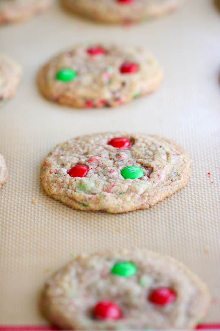 My Mom's M&M Cookies are easy to make and are sure to be a crowd pleaser!