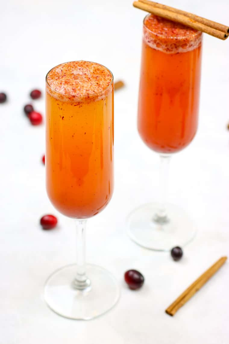 Spiced Cranberry Cider Mimosas + Giveaway