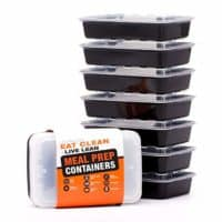 Evolutionize Healthy Meal Prep Containers - 7 Pack, Single Compartment, 28 Ounce