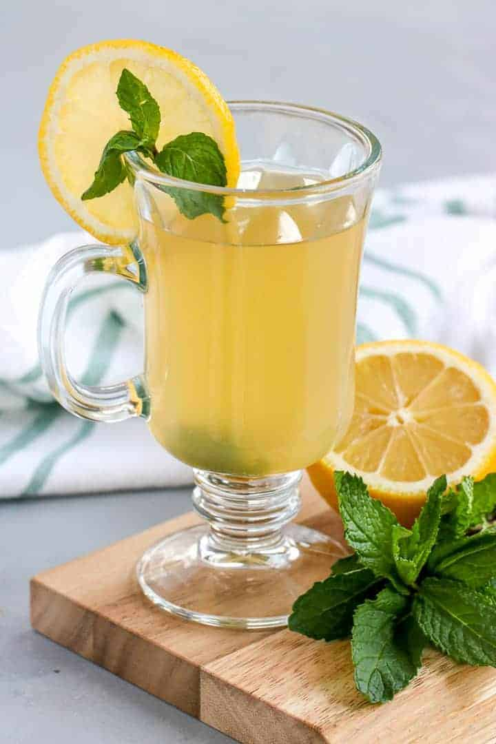 This Mint Hot Toddy is the easiest drink to make to keep cozy on a cold day.
