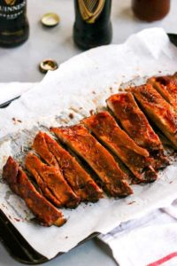 These slow roasted Guinness BBQ Ribs are easy to make and are so tender with many layers of flavors.