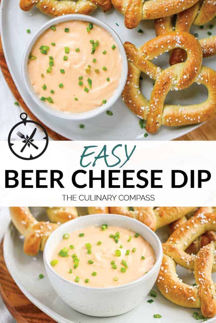 This Beer Cheese Dip is so quick and easy to make and only takes 3 ingredients!
