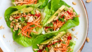 Peanut Ground Turkey Lettuce Wraps