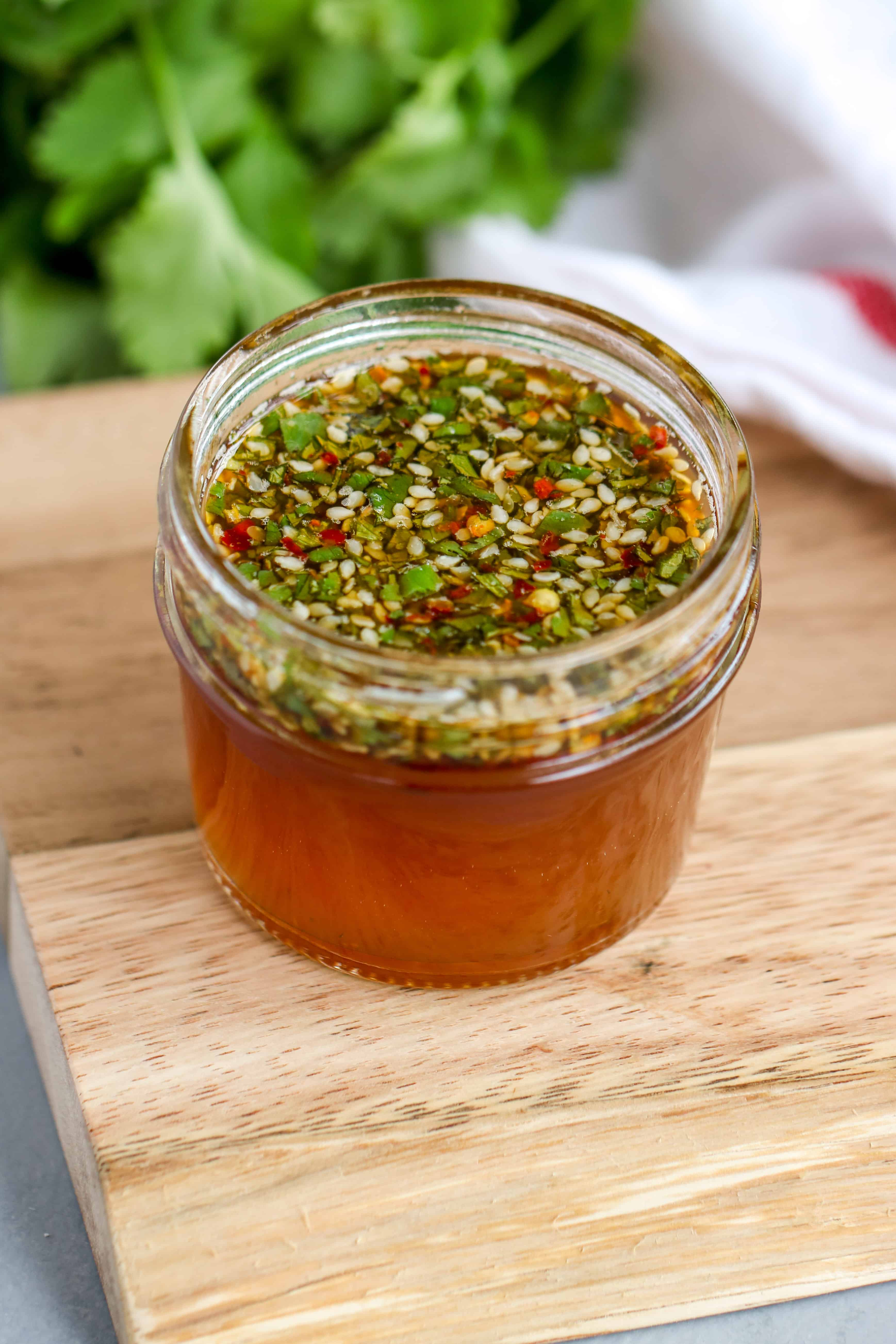This Easy Sesame Dressing is easy to throw together and is a great for all sorts of dishes.