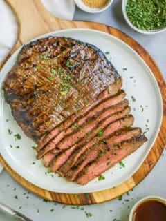 Have you ever wondered how to grill flank steak? This Grilled Flank Steak is so easy and will be a family favorite for years to come.