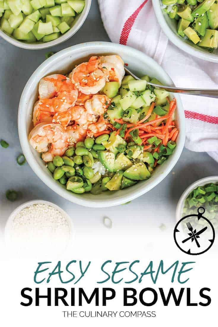 This Sesame Shrimp Sushi Bowl is so light and flavorful which is perfect for hot weather.