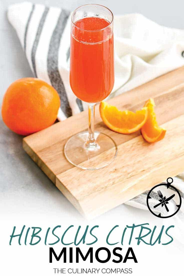 This Hibiscus Citrus Mimosa is quick to make and so refreshing with it's tropical flavors.