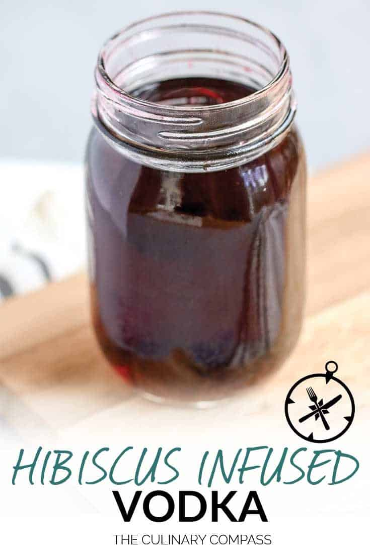 This Hibiscus Infused Vodka only takes two ingredients to make something you won't find anywhere else!