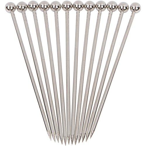 "Stainless Steel Cocktail Picks - 4"" (12pc Set)"